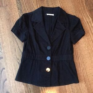 💕ladies black short sleeve jacket